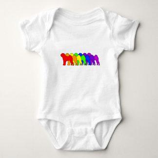 Regenbogen Shar Pei Baby Strampler