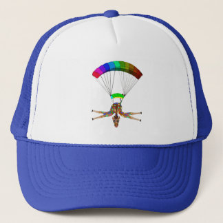 Regenbogen Skydiving durch Happy Juul Company Truckerkappe