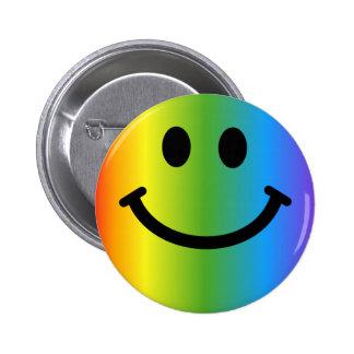Regenbogen-smiley Runder Button 5,7 Cm
