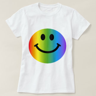 Regenbogen-smiley T-Shirt