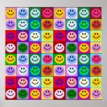 Regenbogen-Smileyquadrate Plakatdruck