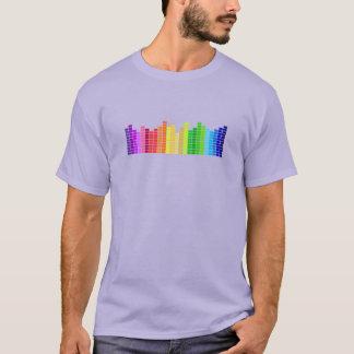 Regenbogen-solides Stangen-T-Stück T-Shirt