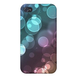 Regenbogen-Sonnenuntergang-Glitzer Bokeh Lichter iPhone 4 Schutzhülle