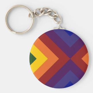 Regenbogen-Sparren Schlüsselanhänger