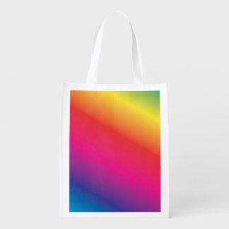 Regenbogen-Spektrum Wiederverwendbare Einkaufstasche