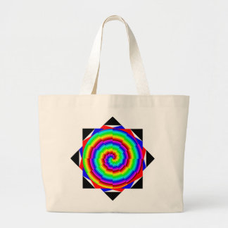 Regenbogen-Spirale durch Kenneth Yoncich Jumbo Stoffbeutel