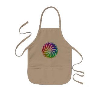 Regenbogen-Spirale Kinderschürze