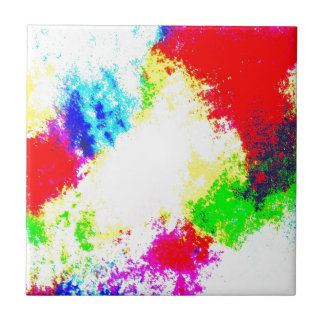 Regenbogen Splats Kleine Quadratische Fliese