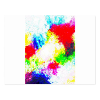 Regenbogen Splats Postkarten