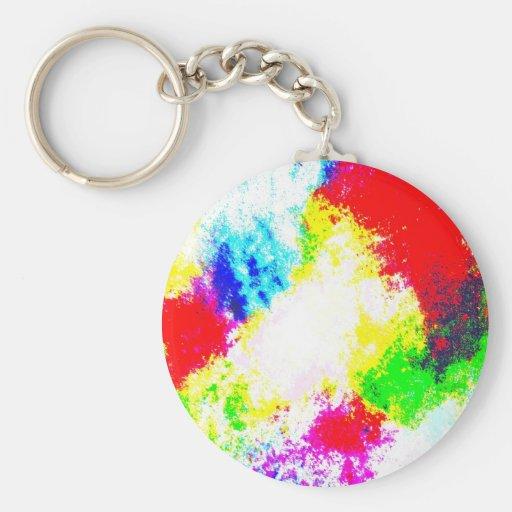 Regenbogen Splats Schlüsselband