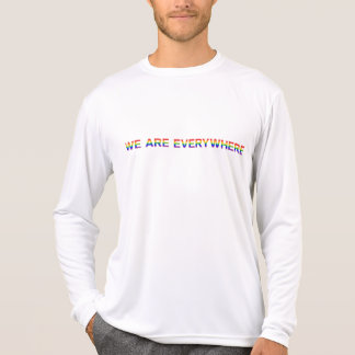 Regenbogen - Sport-Tek Konkurrenten-lange Hülse T-Shirt