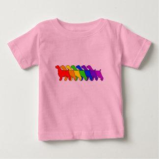 Regenbogen-Springer Baby T-shirt