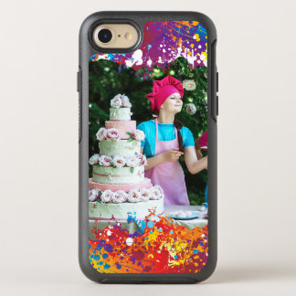 Regenbogen-Spritzen abstrakt OtterBox Symmetry iPhone 8/7 Hülle