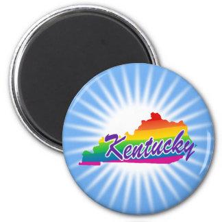 Regenbogen-Staat von Kentucky Runder Magnet 5,7 Cm