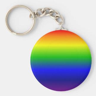 Regenbogen Standard Runder Schlüsselanhänger