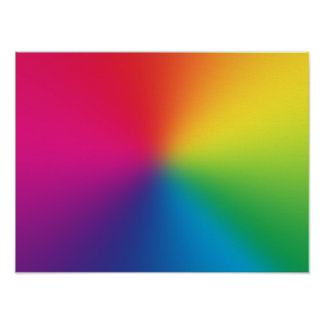 Regenbogen-Steigung kundengebundene Schablone - Poster
