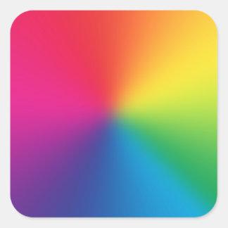 Regenbogen-Steigung kundengebundene Schablone - Quadratischer Aufkleber