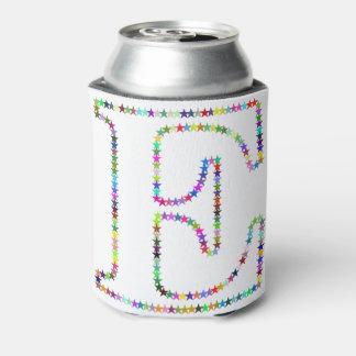 Regenbogen-Stern-Buchstabe E Dosenkühler
