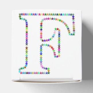 Regenbogen-Stern-Buchstabe F Geschenkschachtel