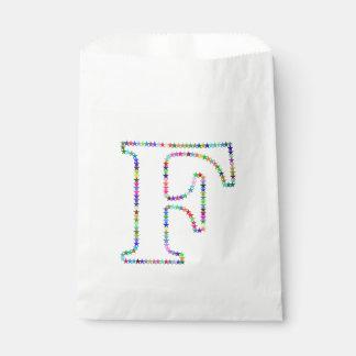 Regenbogen-Stern-Buchstabe F Geschenktütchen