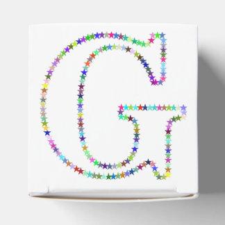 Regenbogen-Stern-Buchstabe G Geschenkschachtel