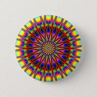 Regenbogen-Stern-Mandala Runder Button 5,7 Cm