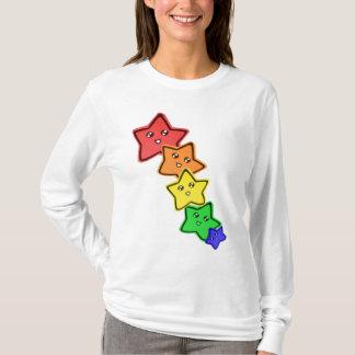 Regenbogen-Sterne T-Shirt