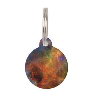 Regenbogen-Sterne und Galaxien Haustiermarke