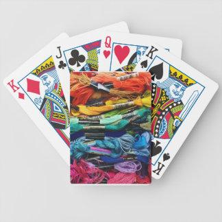 Regenbogen-Stickerei-Glasschlacke   verlegt Bicycle Spielkarten