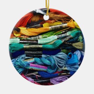 Regenbogen-Stickerei-Glasschlacke   verlegt Keramik Ornament