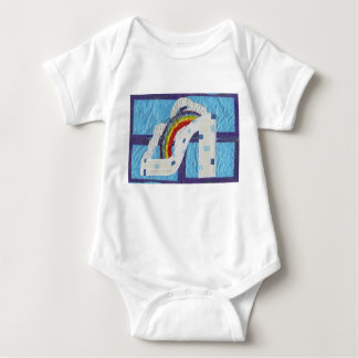 Regenbogen-Stilett Babygrow T Shirt
