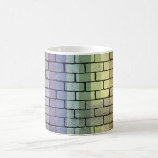 Regenbogen-Stolz-Backsteinmauer Kaffeetasse