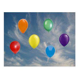 Regenbogen-Stolz-Ballone Postkarte
