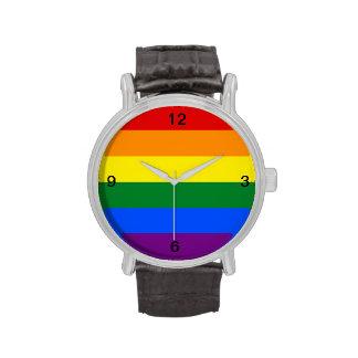 Regenbogen-Stolz-Flagge Uhren
