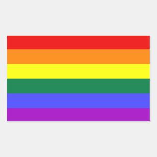 Regenbogen-Stolz-Flaggen-Aufkleber Rechteckiger Aufkleber