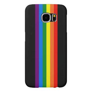 Regenbogen-Streifen auf schwarzer Unterstützung
