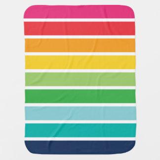 Regenbogen-Streifen-Baby-Decke Baby-Decken