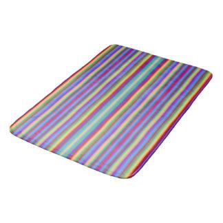 Regenbogen-Streifen Badematte