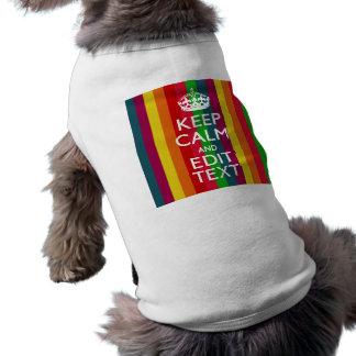 Regenbogen-Streifen behalten Ruhe und Ihren Text T-Shirt