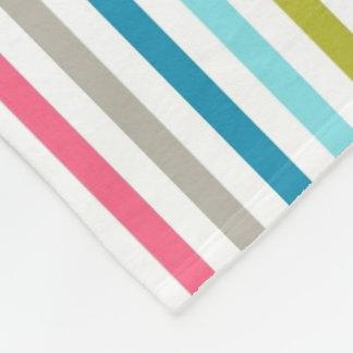 Regenbogen-Streifen Fleecedecke