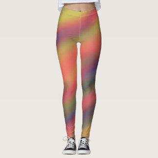 Regenbogen-Streifen Leggings