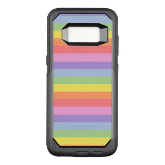 Regenbogen-Streifen OtterBox Commuter Samsung Galaxy S8 Hülle