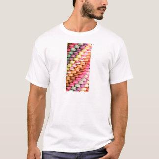 Regenbogen-Streifen Staplungsfranzosen Macaron T-Shirt