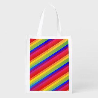 Regenbogen-Streifen Wiederverwendbare Einkaufstasche