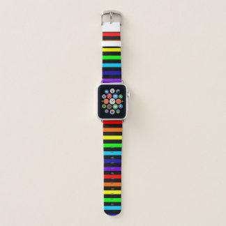 Regenbogen Stripes Apple-Uhrenarmband Apple Watch Armband