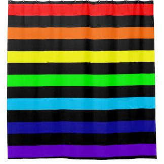 Regenbogen Stripes Duschvorhang