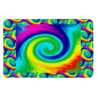 Regenbogen-Strudel-abstrakter Kunst-Entwurf Magnet