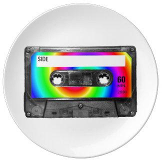 Regenbogen-Strudel-Aufkleber-Kassette Teller Aus Porzellan