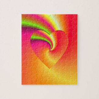 Regenbogen-Strudel-Liebe-Herz Puzzle