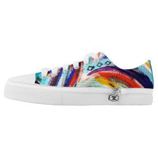 Regenbogen-Strudel-Schuhe Niedrig-geschnittene Sneaker